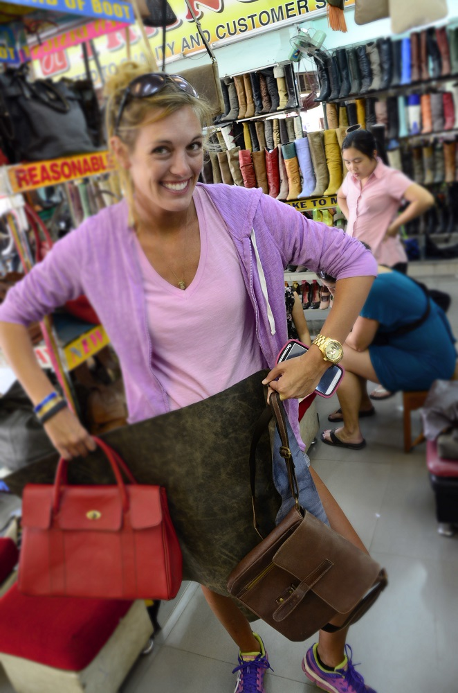 I use to have 14 Coach purse's…Getting a leather purse made in Hoi An, Vietnam