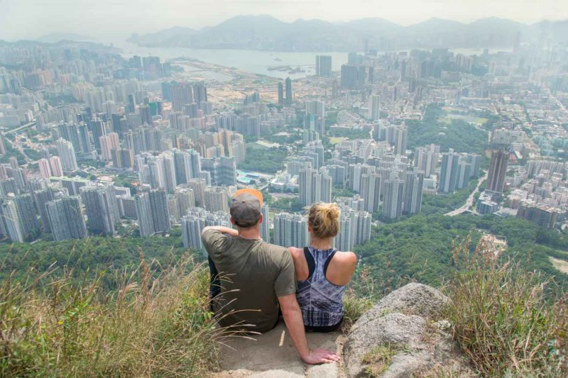 Best views in Hong Kong from the top of Lion rock hike in Hong Kong