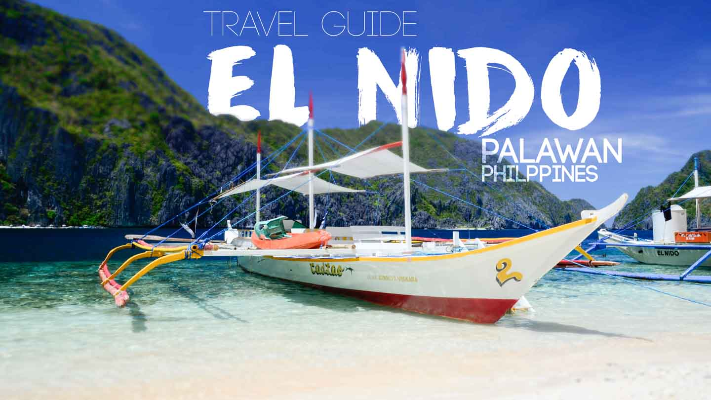 Featured image for El Nido Palawan Philippines Travel Guide - Traditional Filipino Boat in El Nido Islands