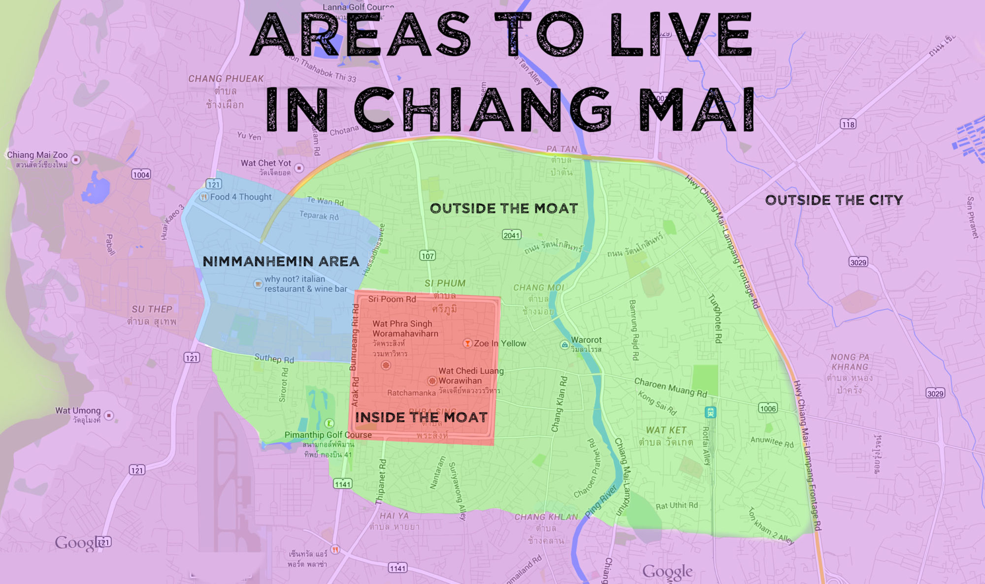 Chiang Mai Area Map | Getting Stamped