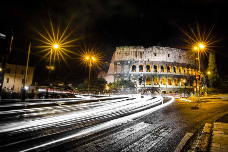 Rome at Night- Travel Photography - Roman colosseum at night-15
