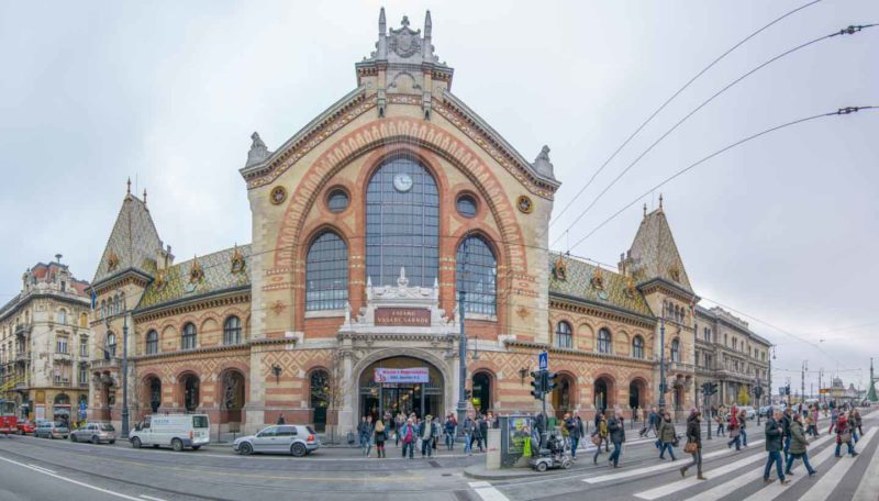 Front of Central Market Hall in Budapest - Main shopping Market