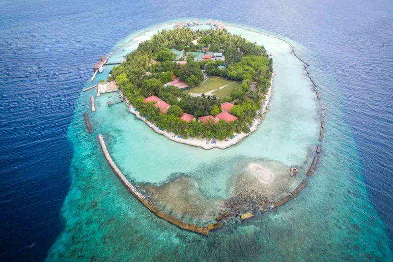 drone view of Ellaidhoo Maldives resort