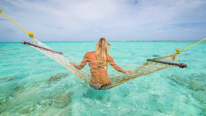 Maldives Pictures - How to Maldives photo guide - Woman in a Hammock-1