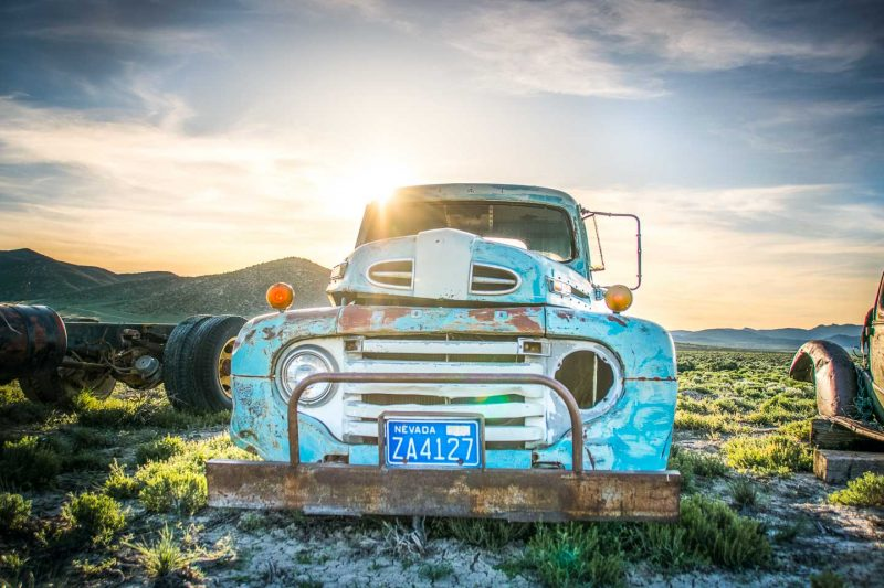 Nevada - HWY 50 - Loneliest Road in America - Random Stops Attractions - Old Cars