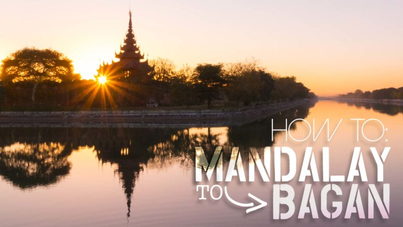 Mandalay to Bagan transportation guide and options - sunset over Mandalay feature