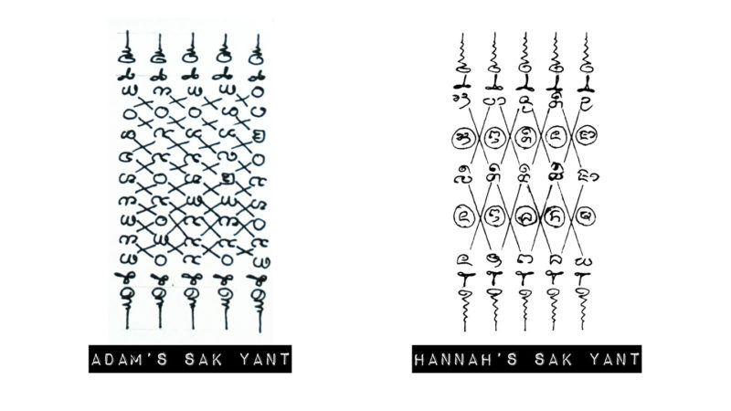 Sketches for tattoo ideas for the traditional Sak Yant Tattoos