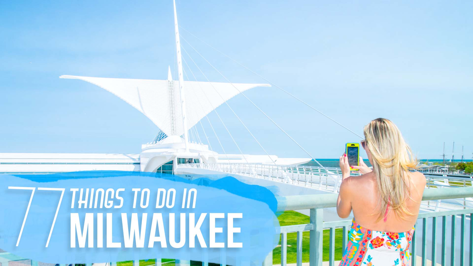 Featured post image woman infront of Milwaukee Art Museum - Things to do in Milwaukee