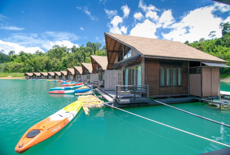 kayaks out front 500 Rai Floating Resort Overwater Bungalow Thailand