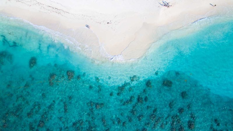 Drone photo of Shoal Bay in Anguilla - Best best on Anguilla and must visit with rental car
