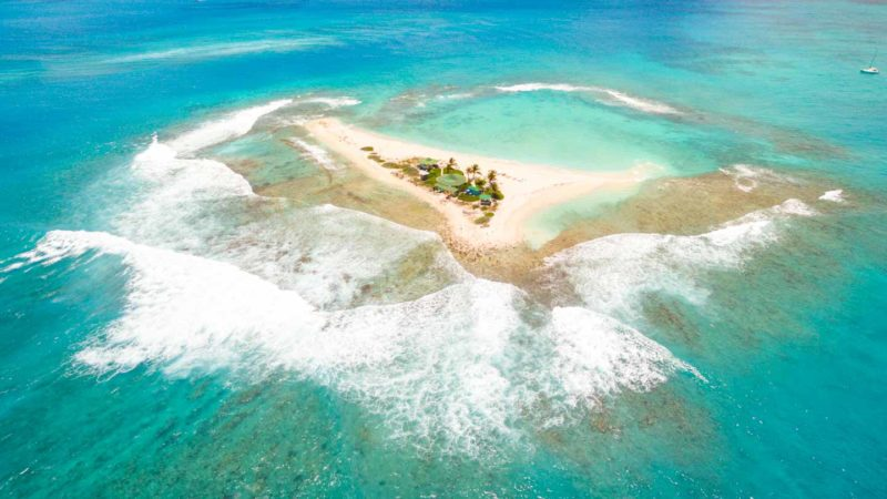 Drone photo of Sandy Island facing southward