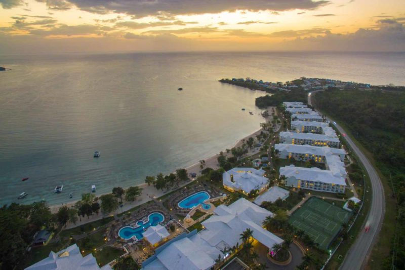 sunset over the Riu Negril