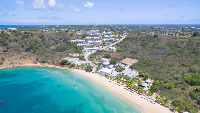 Ariel Photo of Ce Blue Anguilla beach and property