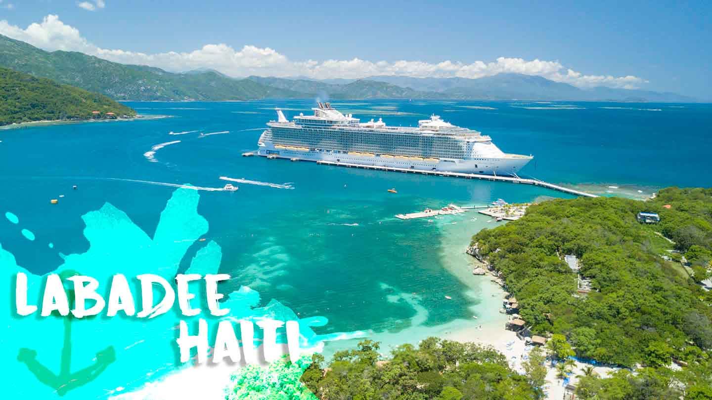 featured image for Labadee Haiti - Drone photo of Ship and port