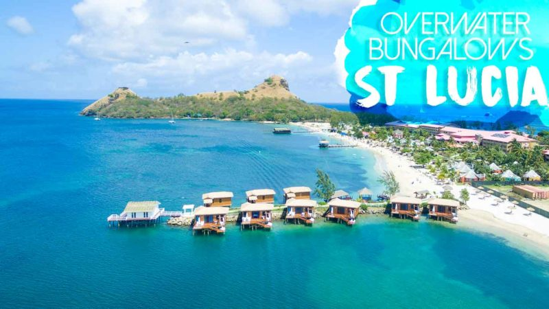 Sandals Over The Water Bungalows In St Lucia Picture From Drone