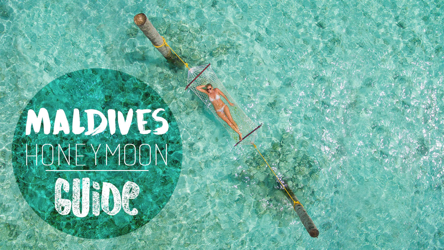 Honeymoon in the maldives guide featured image with woman in a hammock in them aldives