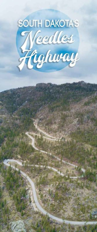 pinterest pin for the post on the Needles highway with text over
