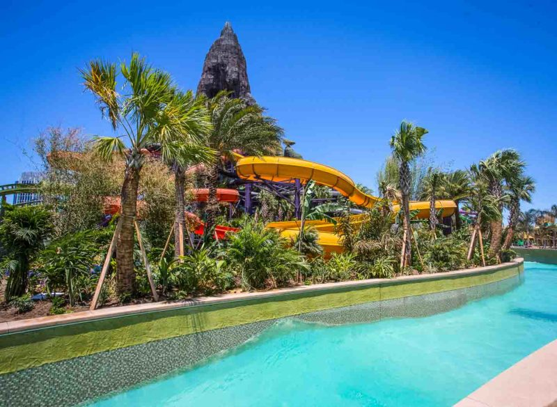 Lazy river at Universal Orlando's Volcano Bay water theme park