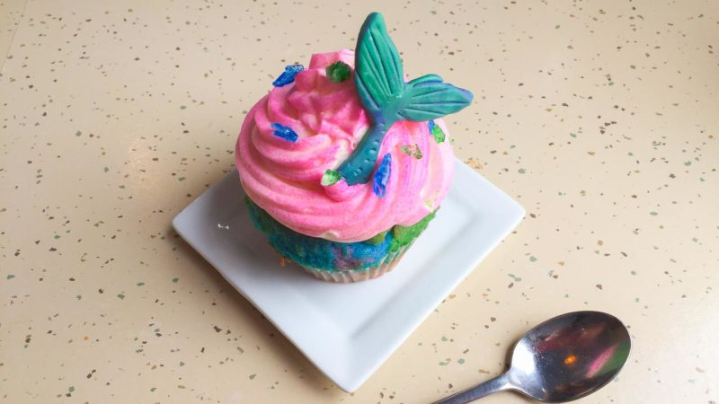 Must do in Homer is visit Mermaid Cafe - Cupcake with mermaid tail