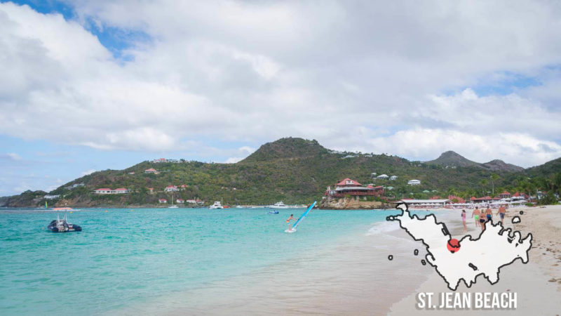 St. Jean beach in the heart of St. Barts