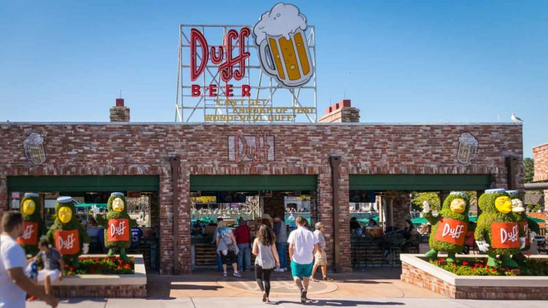 Duff beer garden at Universal Orlando - Simpsons area - best place for adults