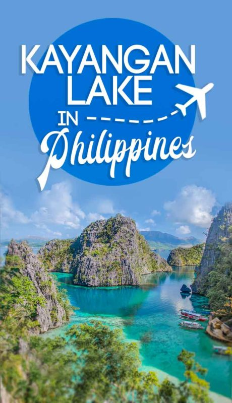 Pin of Kayangan Lake in Coron - Viewpoint over the lagoon