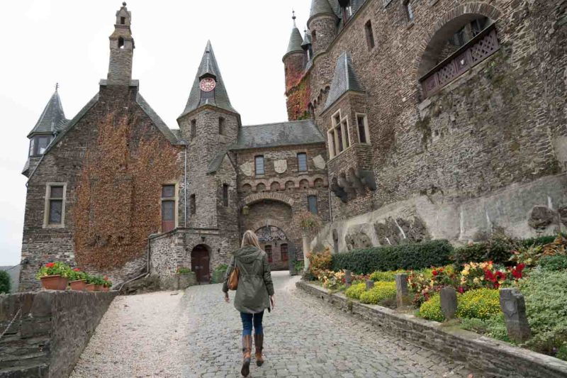 Woman on a Cochem Castle Tour