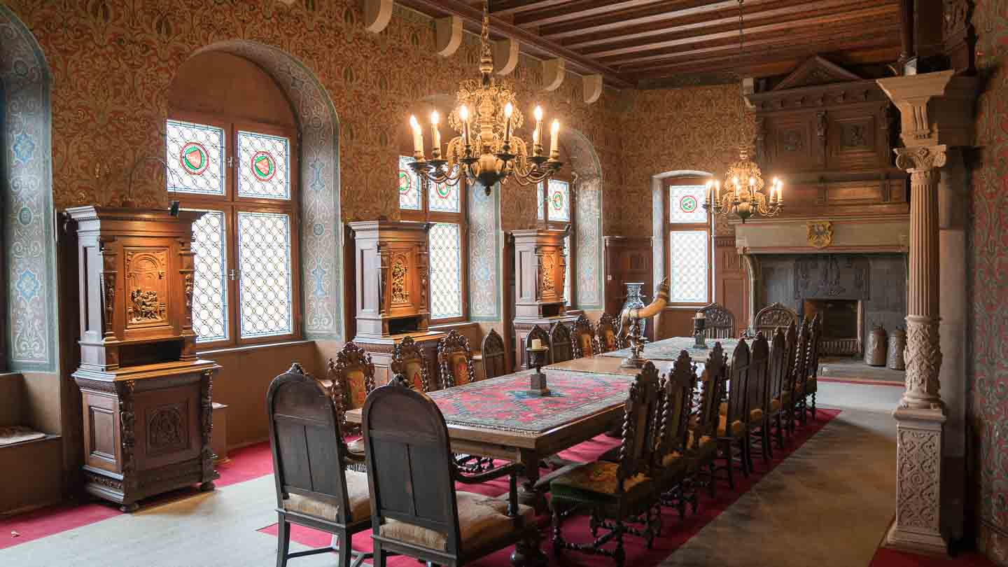 The Dining Room Of The Cochem Castle Interior