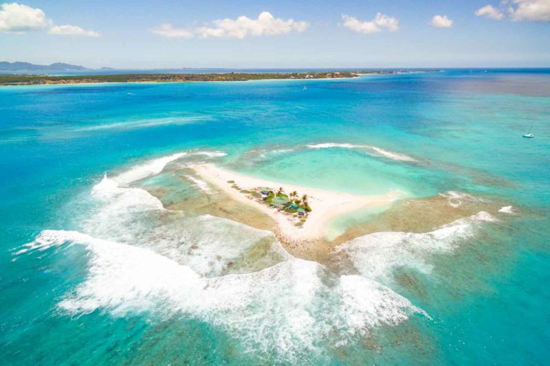 Sandy Island small sand island is the top tourist attraction in Anguilla