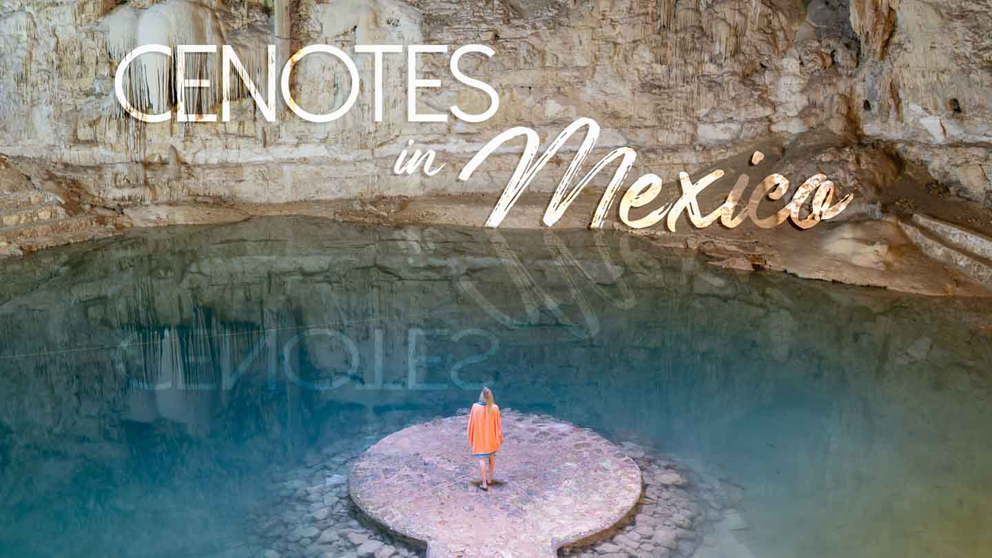 Woman standing in Cenote Suytun oneof the best cenotes in Mexico - Featured image