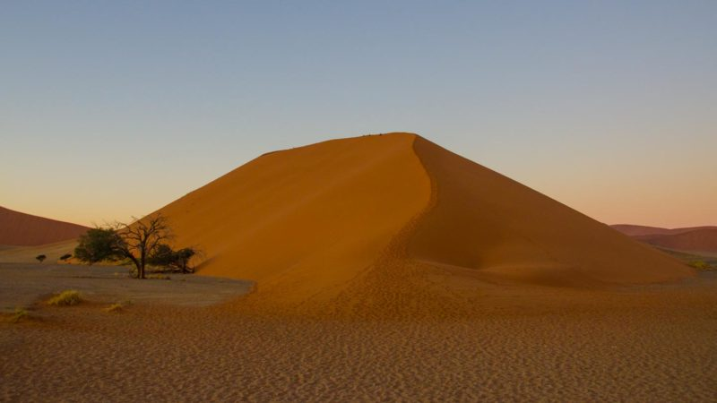 Climb dune 45 at sunrise - best things to do in Namibia