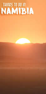 sunrise over dune 45 - pinterest pin for things to do in Namibia