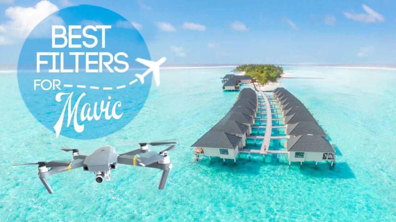 Drone flying in the Maldives - Featured image for best Mavic Pro Filters ND and PL