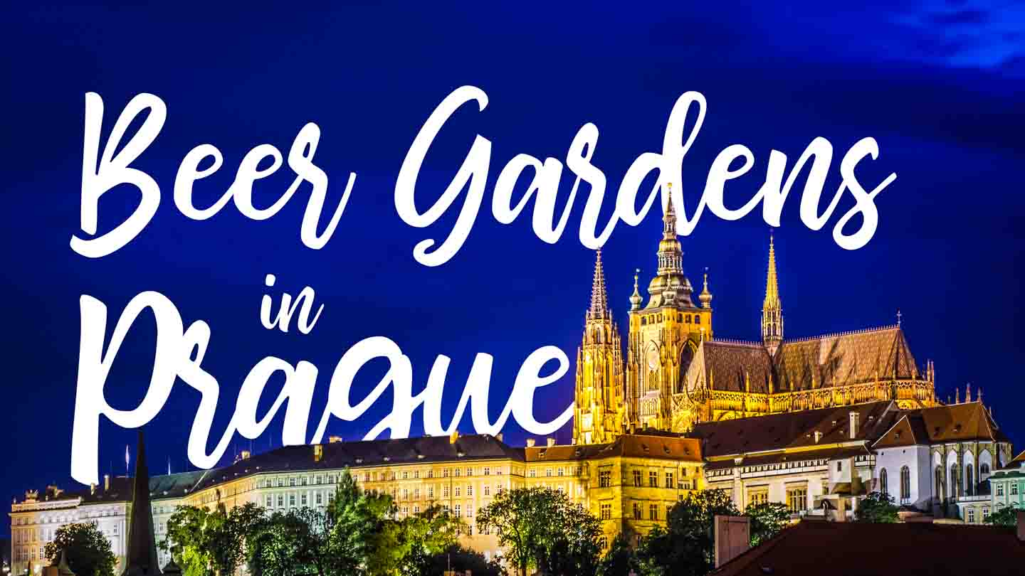 Castle at night - Featured image for Prague Beer Gardens