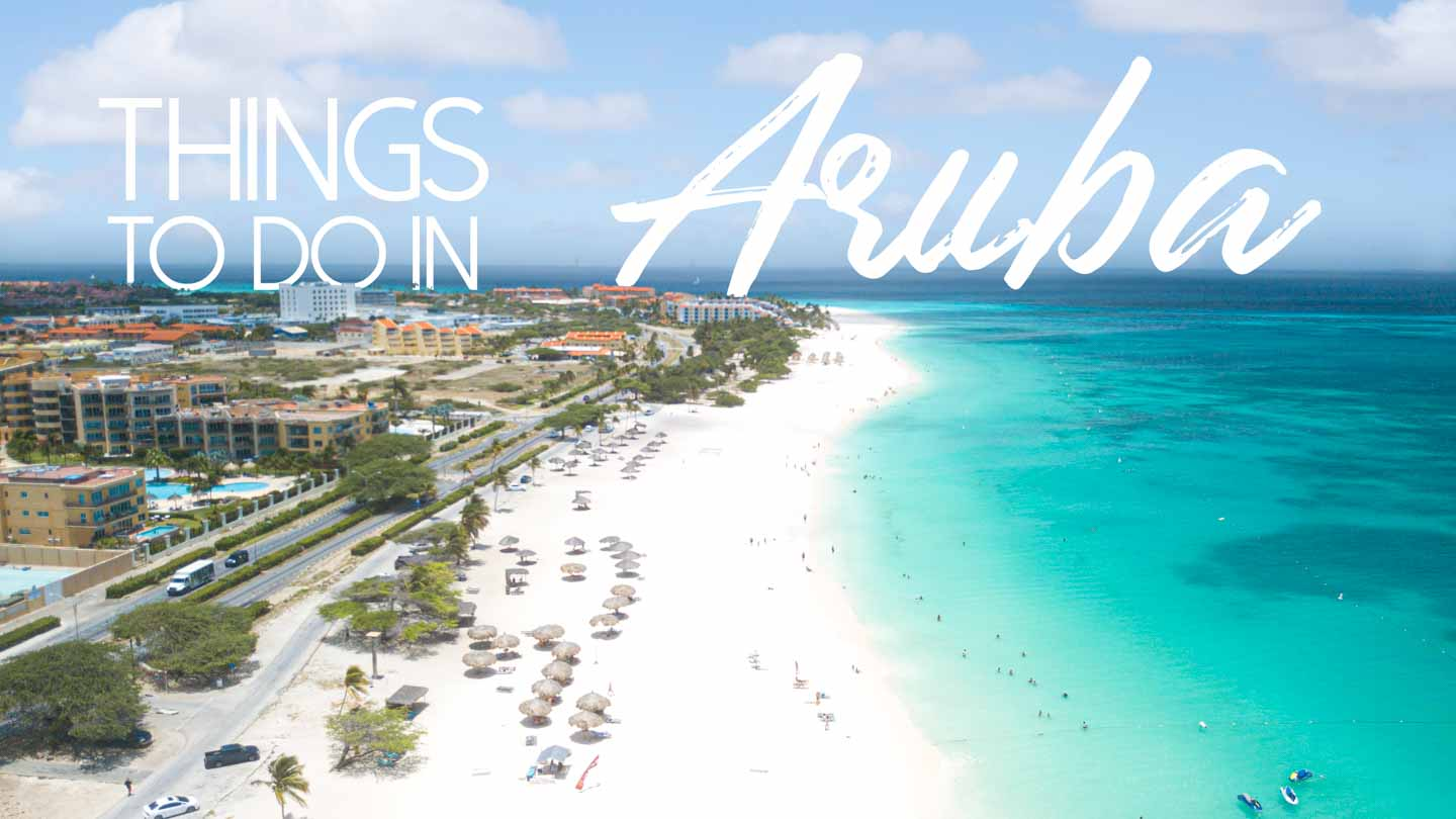 Aerial photo of Aruba's Eagle Beach - Featured image for Things to do in Aruba
