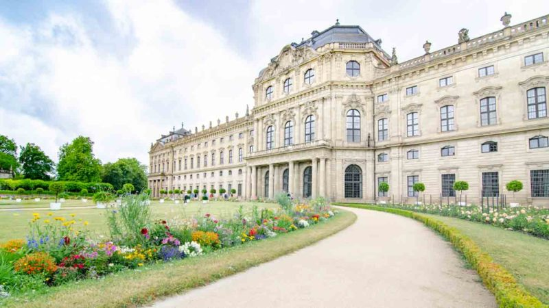 Würzburg Residence view from the gardens - must see on the Romantic Road Germany