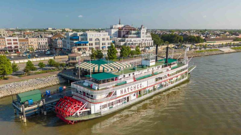 Natchez Steamboat on the Mississippi River in New Orleans