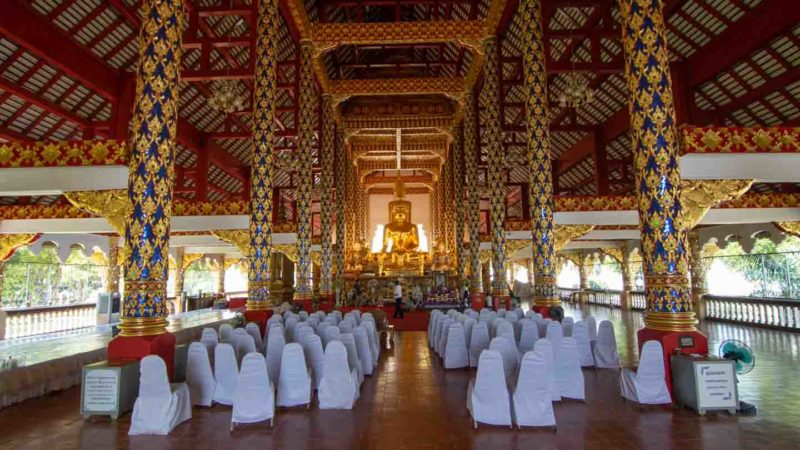 The interior of Wat Suan dok temple in Chiang Mai