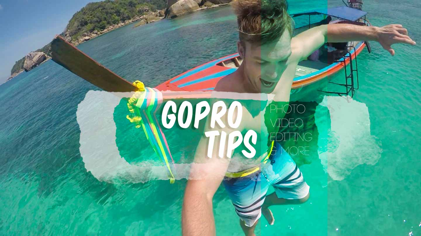 featured image for GoPro Tips - Learning how to use a GoPro - man jumping into the water in Thailand