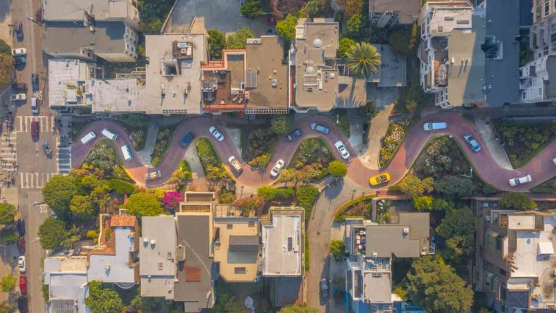 Lombard Street Aerial View