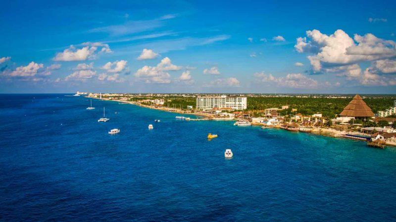 Cozumel Coast Aerial Drone