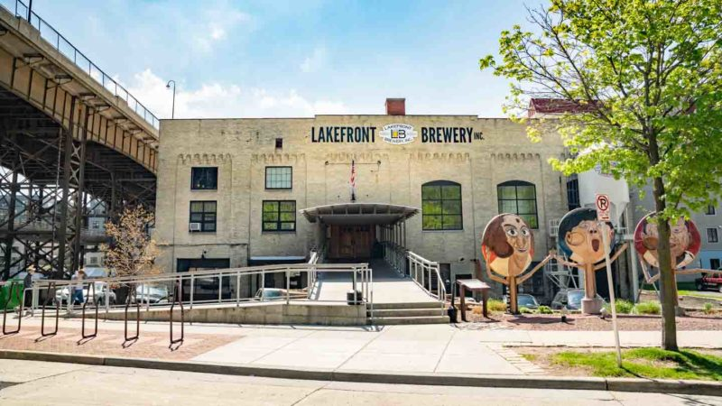 Exterior of Lakefront Brewery - Top brewery tours in Milwaukee
