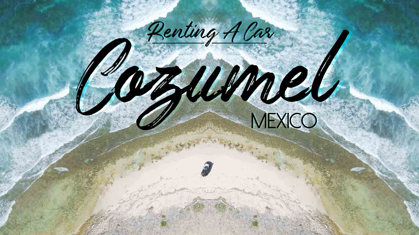 Rental Jeep Parked on the beach - Guide to Renting a car in Cozumel