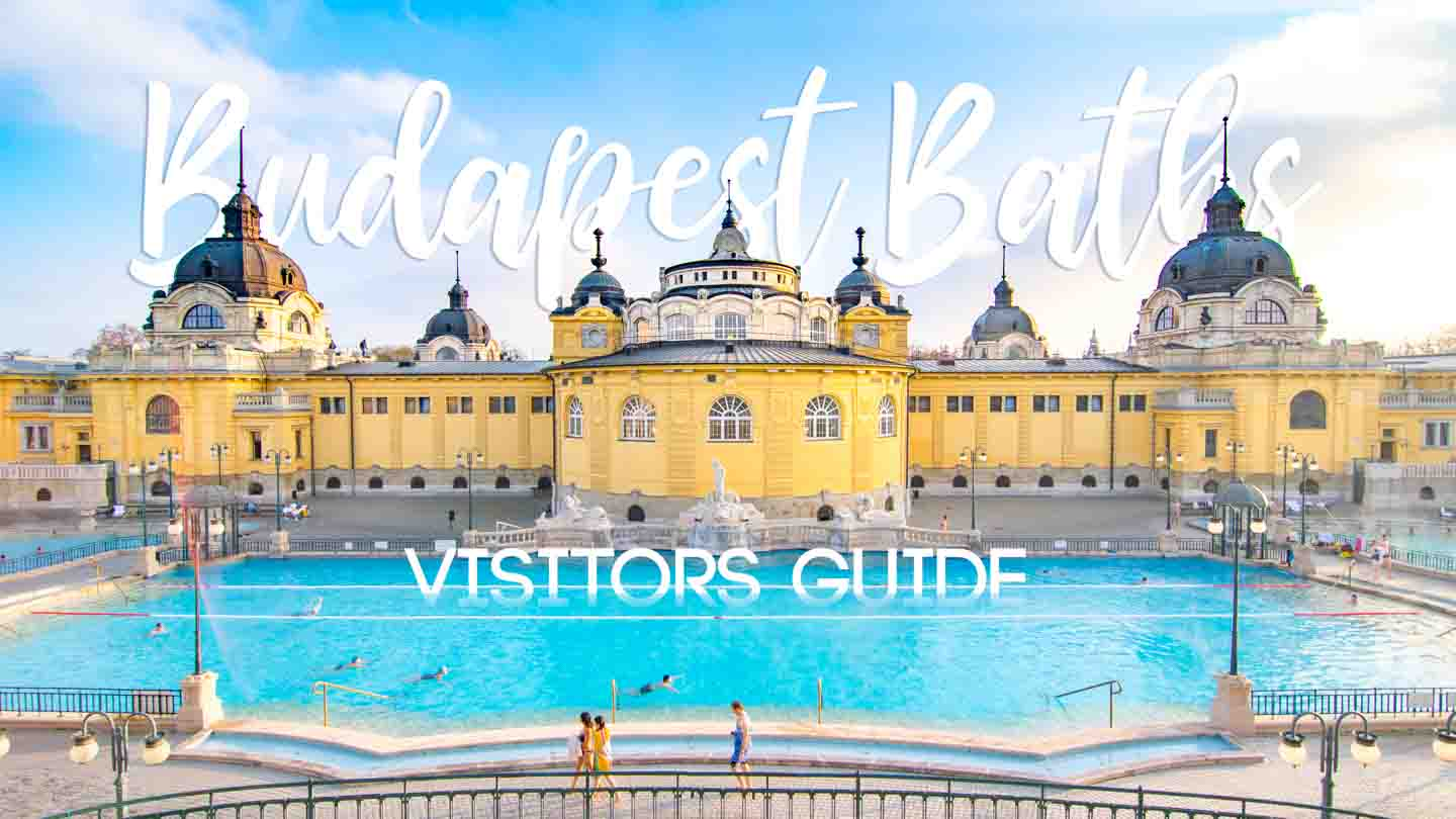 Yellow baroque style buildings of the best Budapest baths - Szechenyi - Featured image