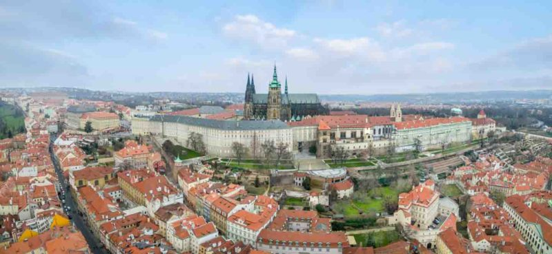 Aerial View of the Prague Castle Drone Photo
