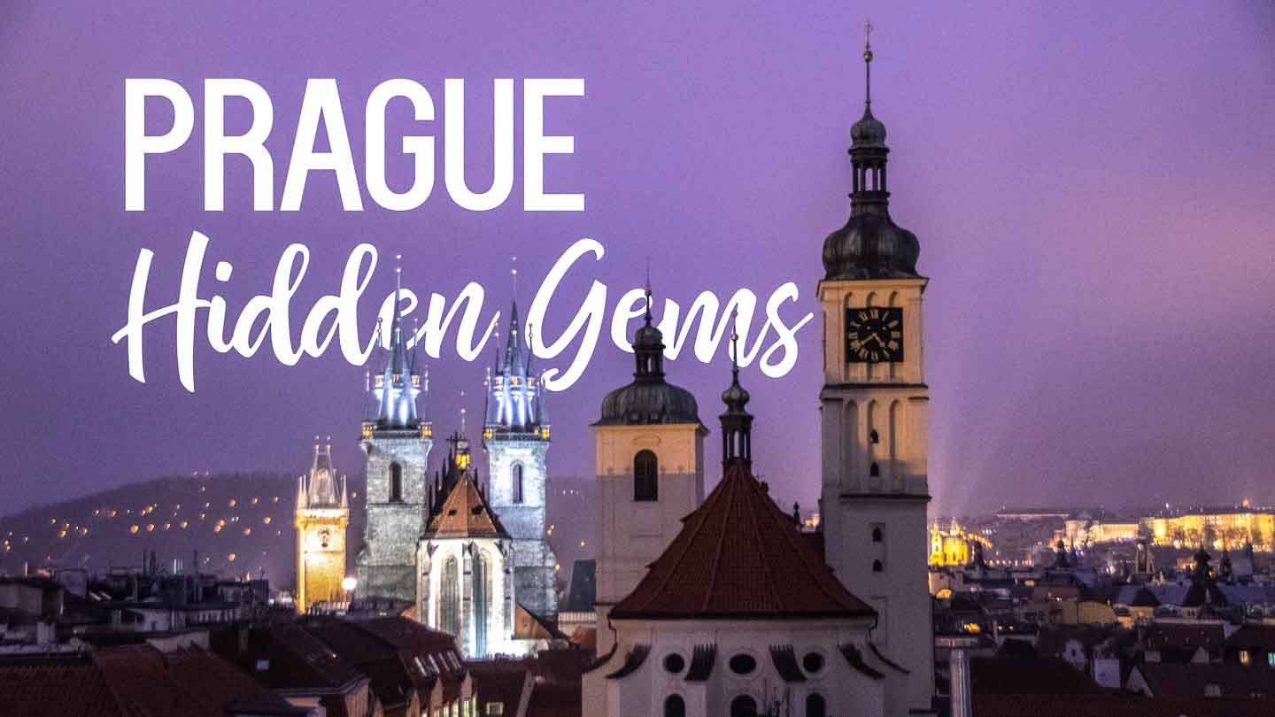 Night Sky Secret Viewpoint view of old town - Prague Hidden Gems - Featured Image