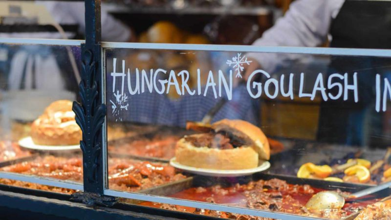 Hungarian Traditional Goulash from Budapest Restaurant