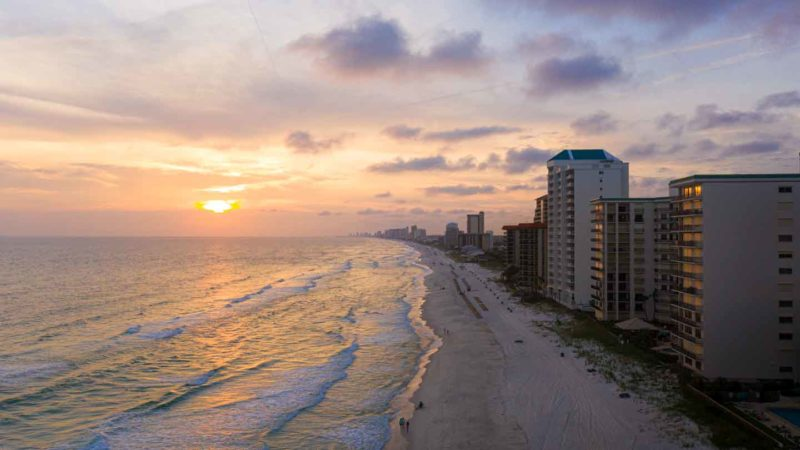 Sunset on Panama city beach Fl - Top reasons to visit PCB florida