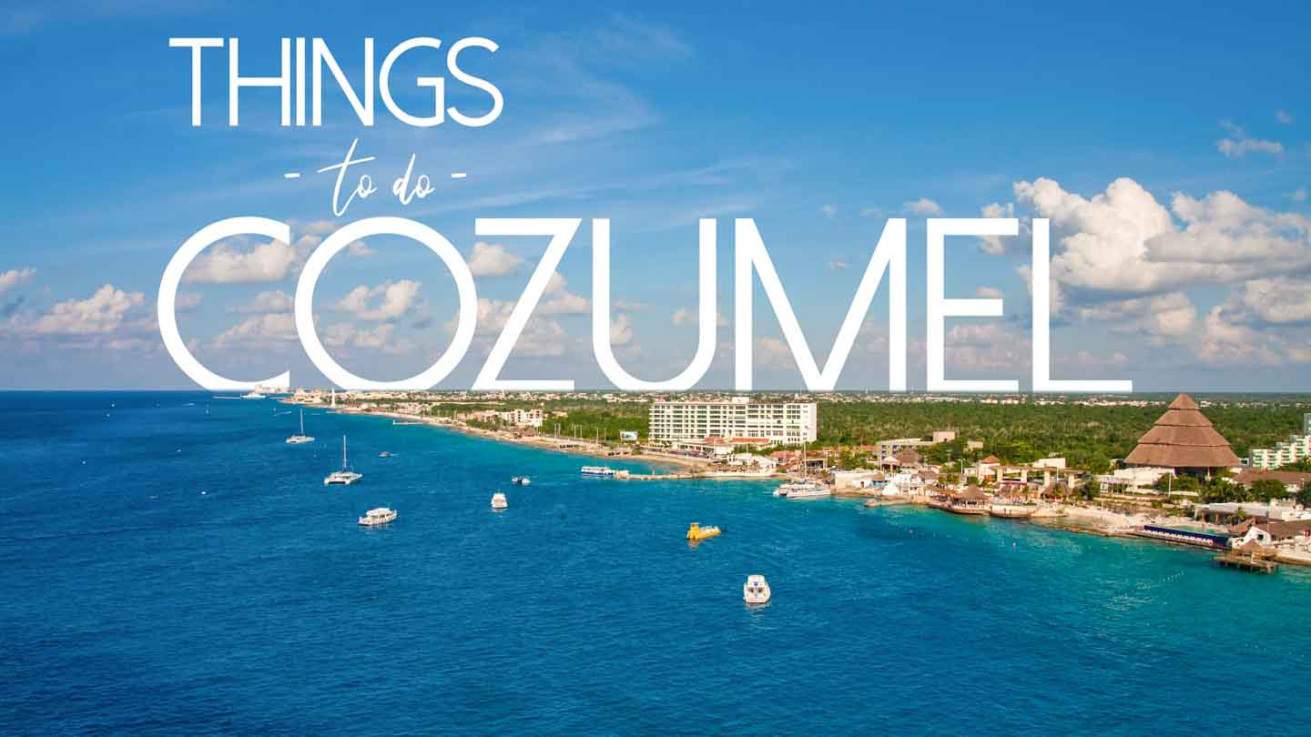 Aerial Photo of Cozumel Island Mexico - Featured image for things to do in Cozumel