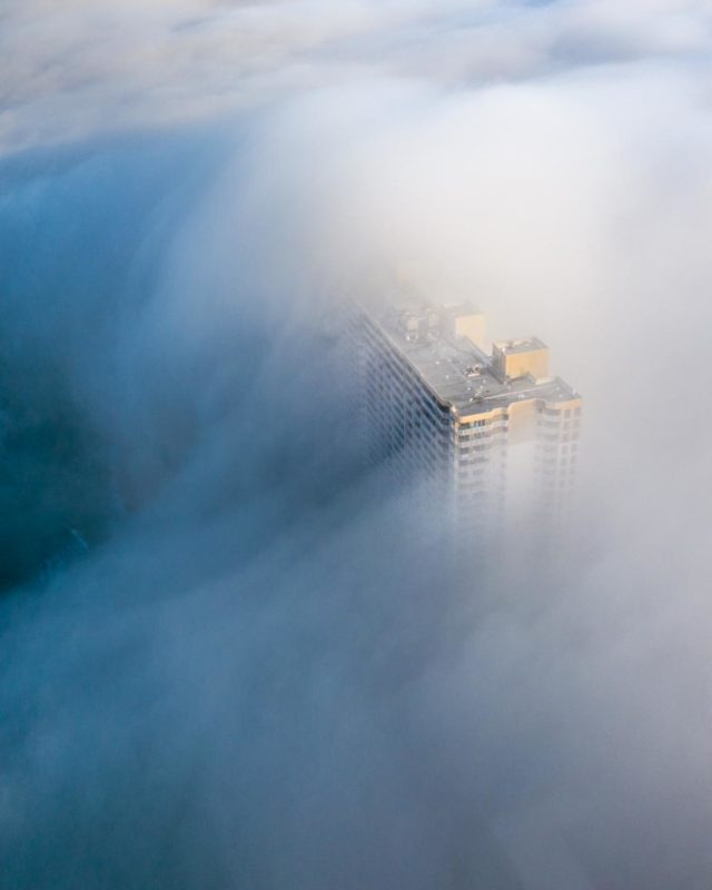 mist and fog rolling over the hotels in Panama City Beach - Top sights to see
